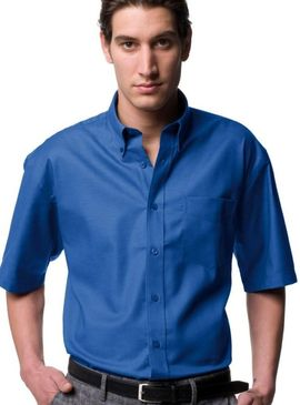 Russell Collection Easy Care Oxford Short Sleeve Shirt